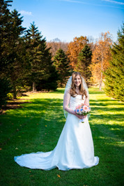 Fall Bridal Portrait Homestead Meadows