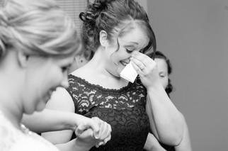 Bridesmaid Crying Green Bay WI