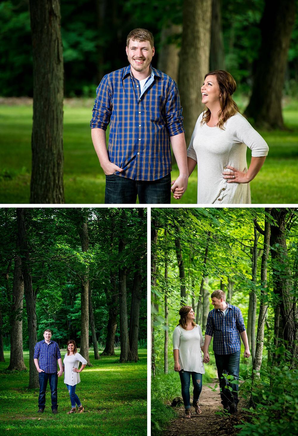 High Cliff Wisconsin Spring Engagement | Lanari Photography
