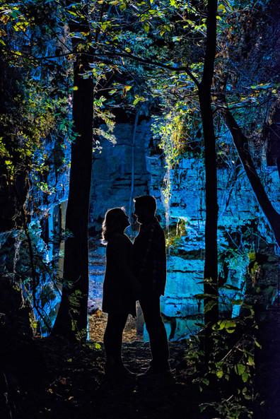 Night Engagement Portrait at High Cliff Lanari Photography