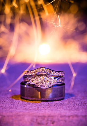 Wedding Rings with Sparklers