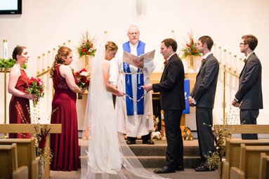 Three Cords Ceremony During Winter Wedding
