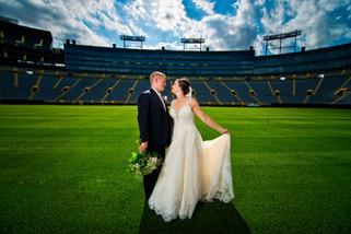 Lambeau Field Wedding Portrait