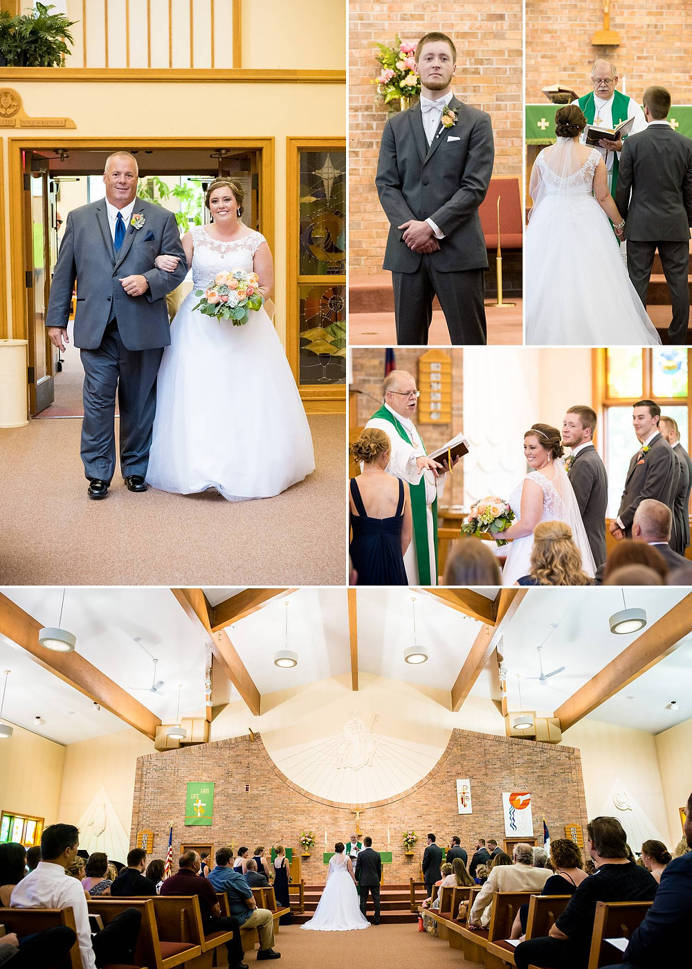 Oshkosh Wisconsin Summer Wedding Ceremony   Lanari Photography