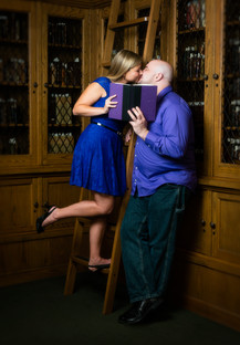 Library Engagement Portrait Lanari Photography