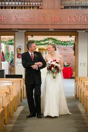 Father Walking Bride Down Aisle
