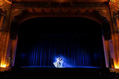Dramatic Theater Wedding Portrait Lanari Photography