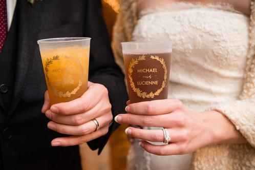 Custom Wedding Drink Cups