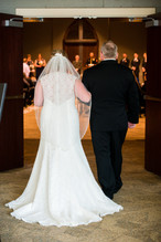 Bride with Father, Green Bay Community Church
