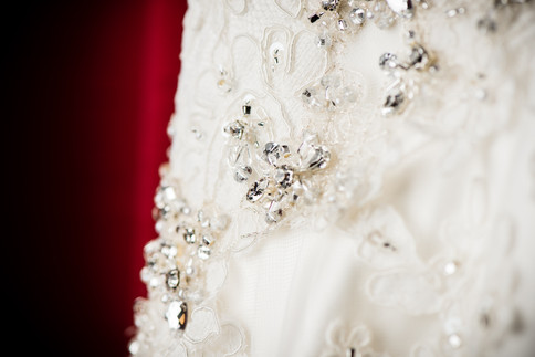 Beaded Wedding Dress Detail