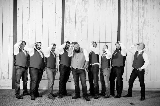 Groomsmen at Brighton Acres, Oshkosh WI