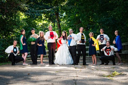 Superhero Bridal Party Appleton WI Wedding