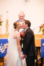 First Kiss Winter Wedding