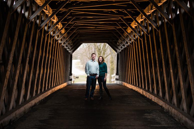 Milwaukee Covered Bridge Engagement Lanari Photography