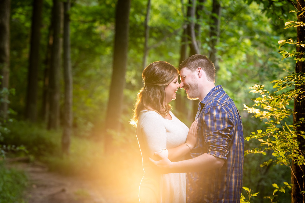 Wisconsin summer engagement High Cliff | Lanari Photography