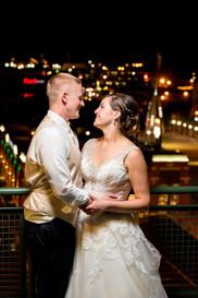 Lambeau Field Night Wedding Portrait