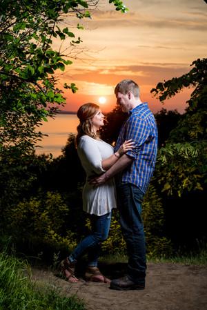High Cliff Sunset Engagment Lanari Photography
