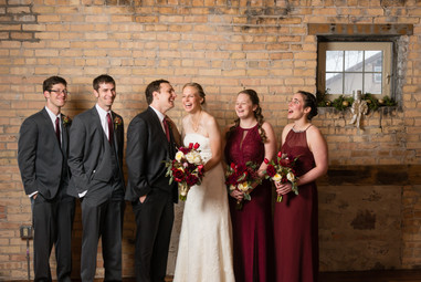 Bridal Party at Carsten's Mill Brillion WI