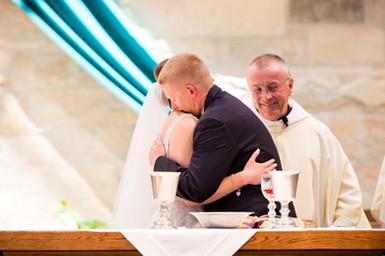 Wedding Sign of Peace Embrace, Catholic Wedding