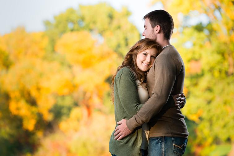 Fall Engagement High Cliff Lanari Photography
