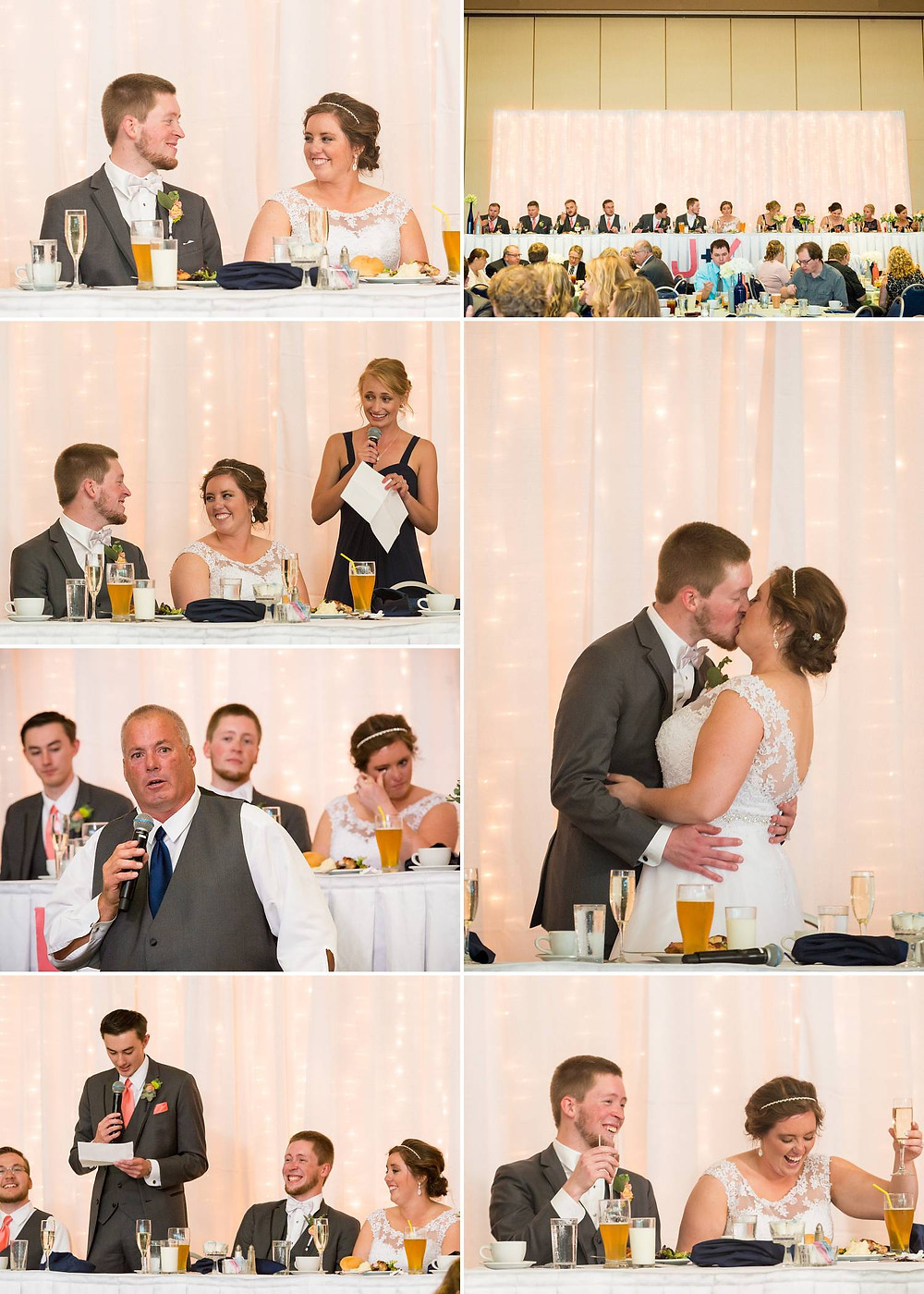 Oshkosh Convention Center Wedding Dinner | Lanari Photography