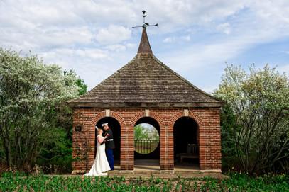 Spring Wedding Portrait Green Bay Botanical Garden