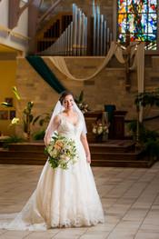 Bride Portrait, Our Lady of Lourdes Wisconsin