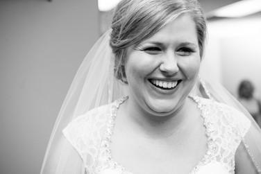 Bride Crying on Wedding Day