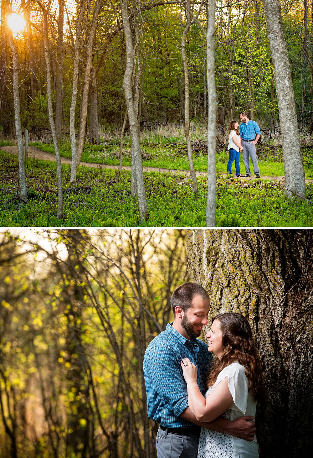 Outdoor Spring Engagement Session Wisconsin | Lanari Photography