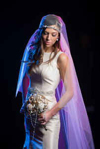 Bride Portrait Theater Lighting