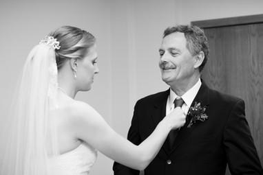 Bride with Father in Brillion WI