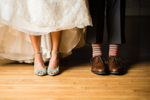 Bride and Groom Shoes and Socks