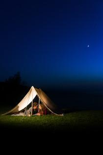 Camping Engagement Night Sky Lanari Photography