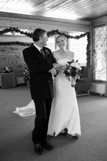Winter Wedding Bride with Father