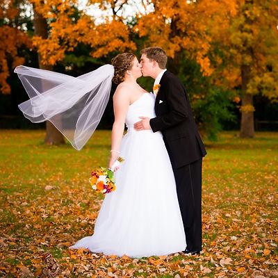 Fall Wedding Couple Green Bay Wisconsin
