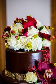 Chocolate Wedding Cake Simmas Milwaukee Wisconsin   Lanari Photography