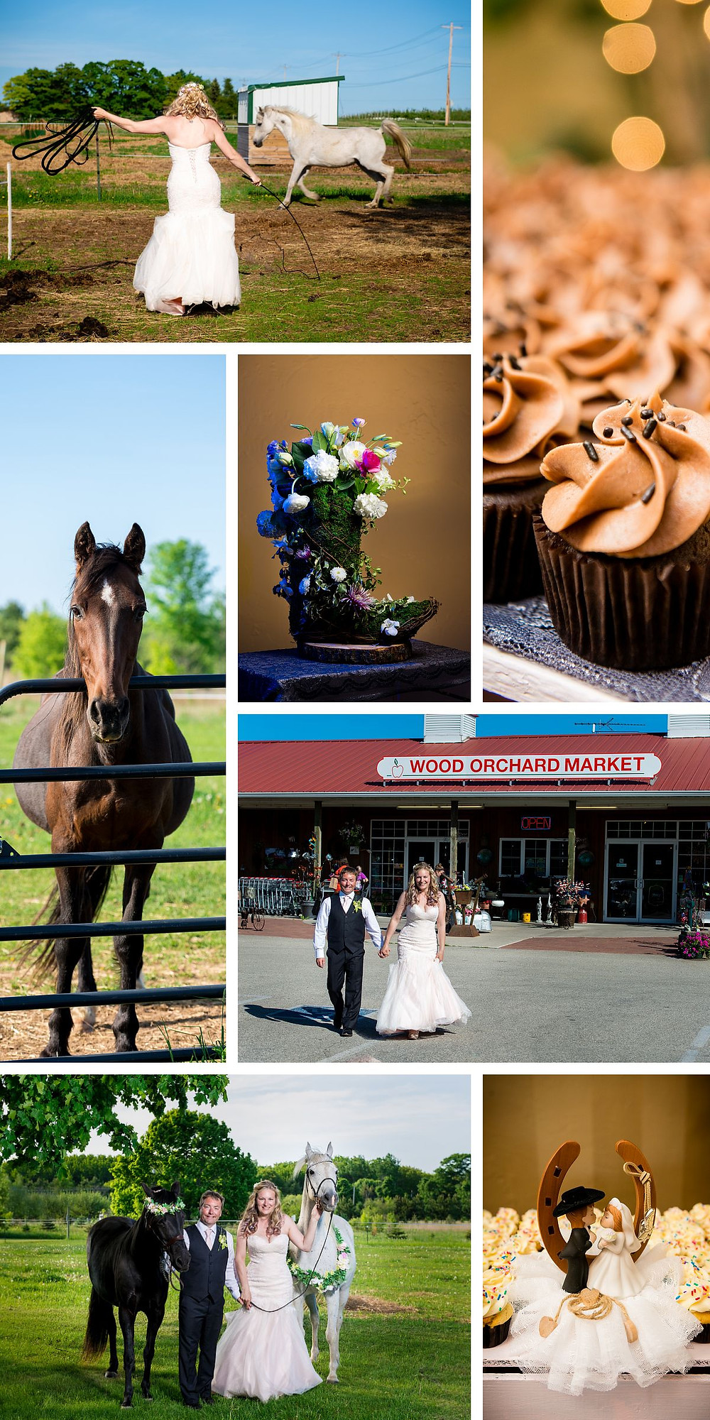 Wedding Photographs with Horses cowboy boots Door County Wedding Photography