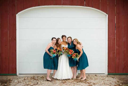 Bridesmaids at Homestead Meadows Appleton WI