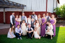 Wedding Family Portrait at Brighton Acres Oshkosh WI