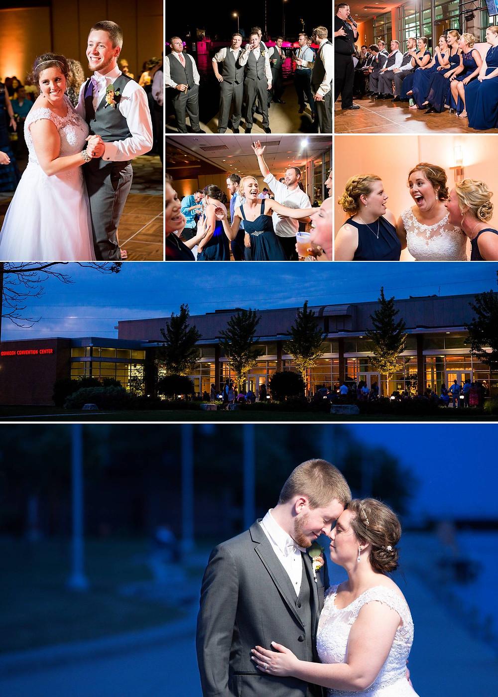 Oshkosh Wisconsin Convention Center Wedding Reception   Lanari Photography