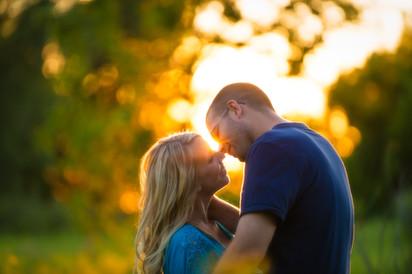 Sunset Engagement Portrait Lanari Photography