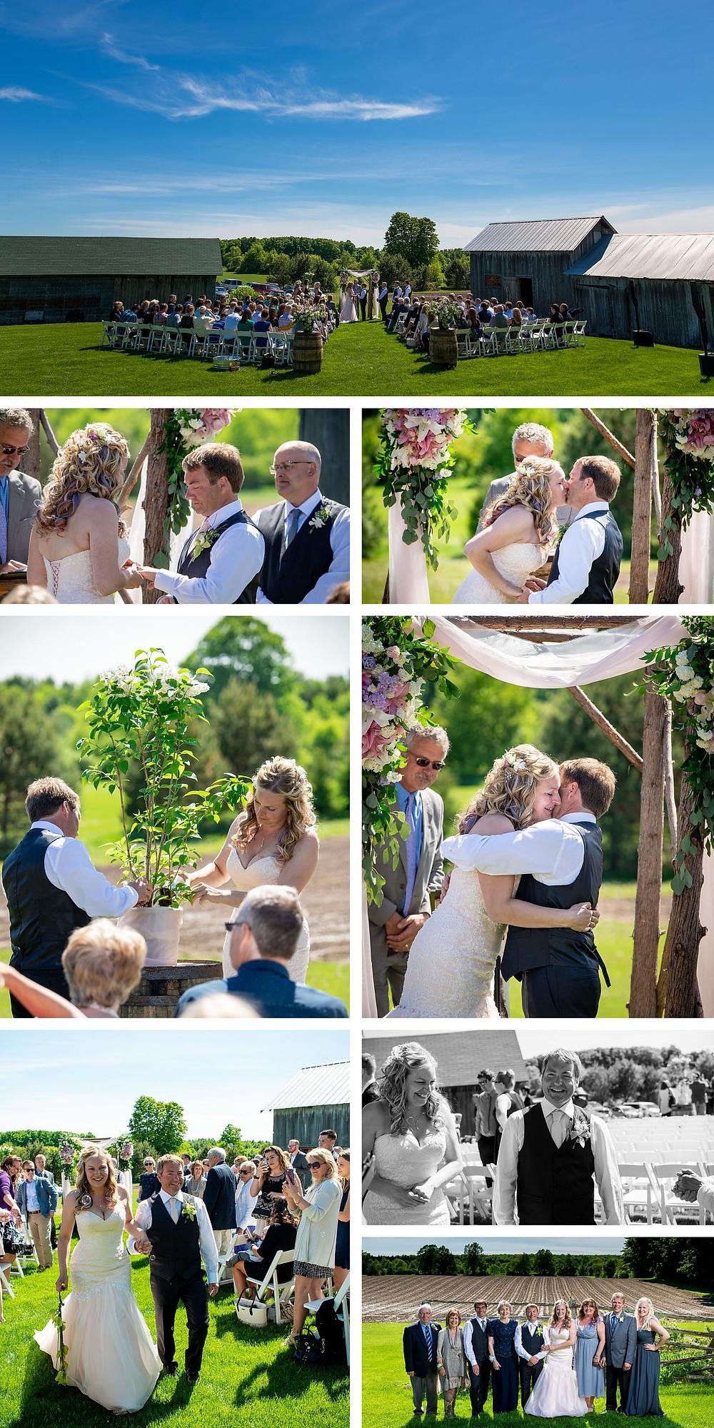 About Thyme Farm Wedding Door County Wisconsin Lanari Photography