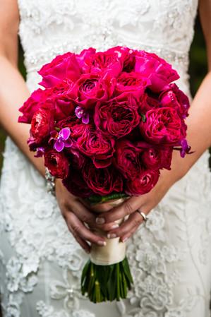 Deep Pink Wedding Bouquet