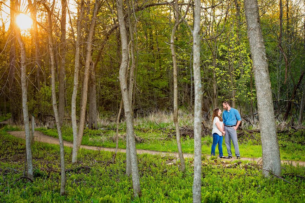 Spring engagement session Bubolz Nature Preserve Appleton Wisconsin | Lanari Photography