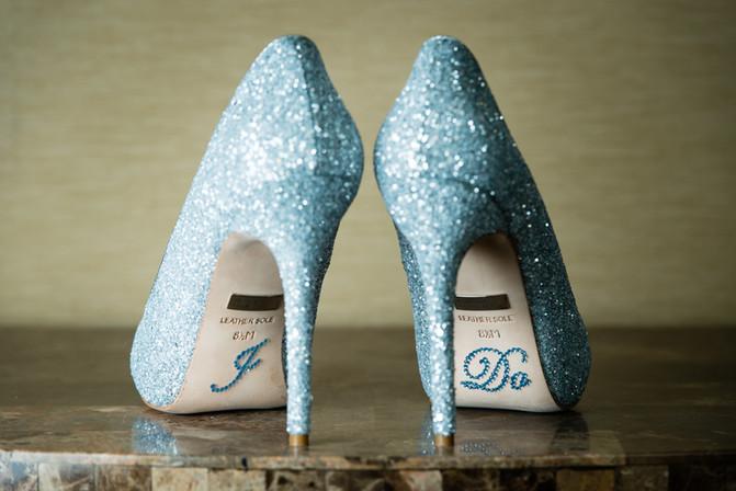 Blue Glitter I Do Shoes