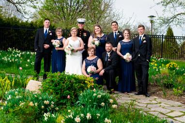 Green Bay Botanical Garden Bridal Party Portrait