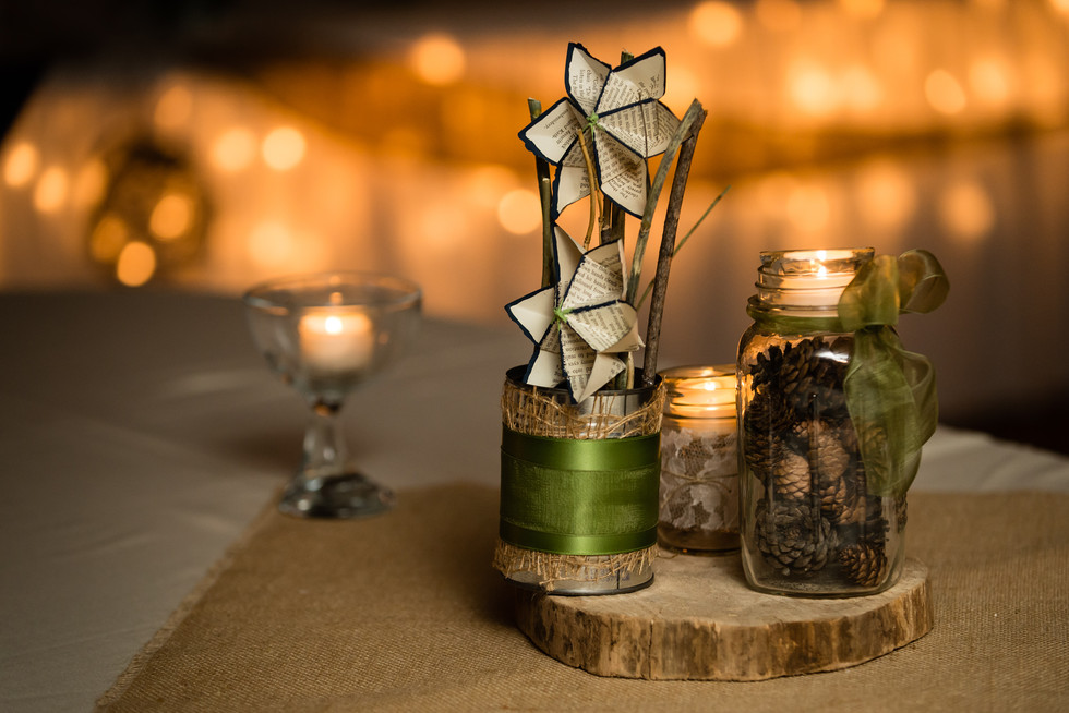 Handmade Rustic Wedding Centerpiece