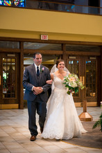 Bride with Father, Our Lady of Lourdes De Pere WI