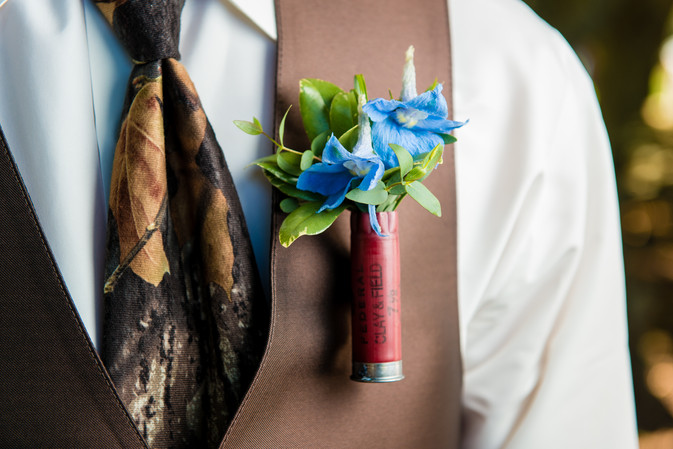 Groom Boutonnierre with Shotgun Shell