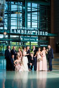 Lambeau Field Bridal Party Portrait